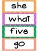 Kindergarten Exit Sight Word List- Large