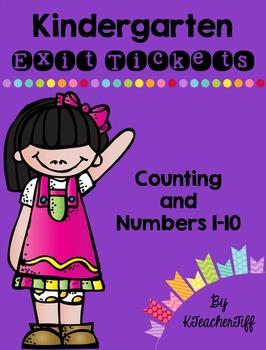 Kindergarten Exit Tickets: Counting 1-10