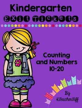 Kindergarten Exit Tickets: Counting 11-20