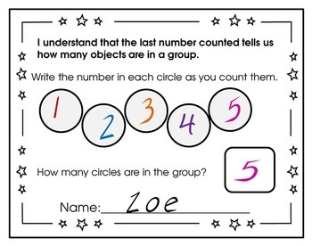 Kindergarten Exit Tickets Numbers and Counting