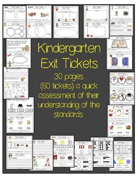 Kindergarten Exit Tickets