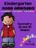 Kindergarten Exit Tickets: 2D and 3D shapes