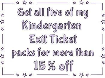 Kindergarten Exit Tickets MATH BUNDLE