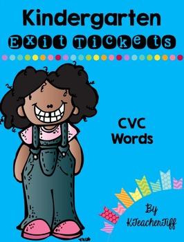 Kindergarten Exit Tickets: CVC Words