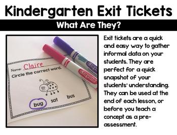 Kindergarten Exit Tickets: ELA Bundle