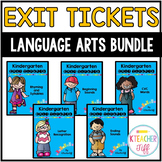 Kindergarten Exit Tickets: ELA Bundle