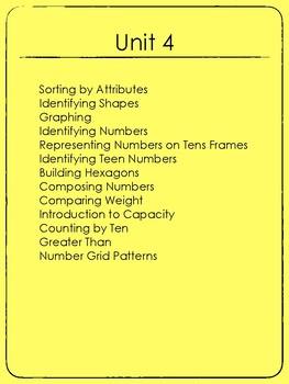 Kindergarten Exit Tickets Group 4 (Everyday Math)