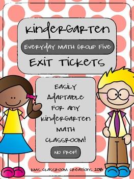 Kindergarten Exit Tickets Group 5 (Everyday Math)