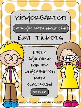 Kindergarten Exit Tickets Group 8 (Everyday Math)