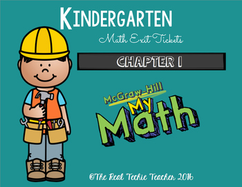 Kindergarten Exit Tickets- MyMath aligned (Chapter 1)