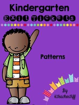 Kindergarten Exit Tickets: Patterns