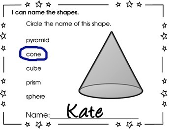 Kindergarten Exit Tickets Geometry Shapes
