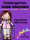 Kindergarten Exit Tickets: Subtraction