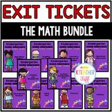 Kindergarten Exit Tickets: The Math Bundle!