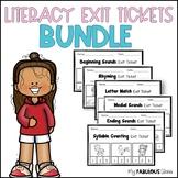 Kindergarten Literacy Exit Tickets