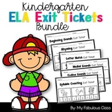 Kindergarten Exit Tickets Literacy Bundle