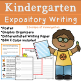 Kindergarten Expository Writing (Common Core Aligned) How to Writing