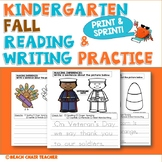 Kindergarten FALL/Autumn No Prep Writing Packet