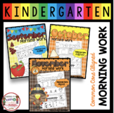 Kindergarten Morning Work FALL BUNDLE - Common Core Math and Reading