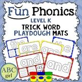 Kindergarten Fundationally FUN PHONICS Level K Trick Word Playdough Mats