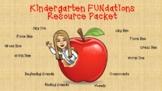Kindergarten FUNdations Resource Packet
