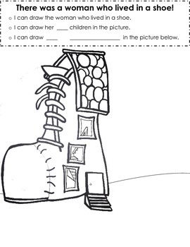 Kindergarten: Fairy Tales - There was a woman who lived in a shoe activity