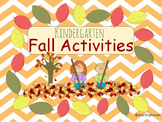 Kindergarten Fall Activities