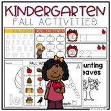 Kindergarten Fall Activities (Literacy + Math)