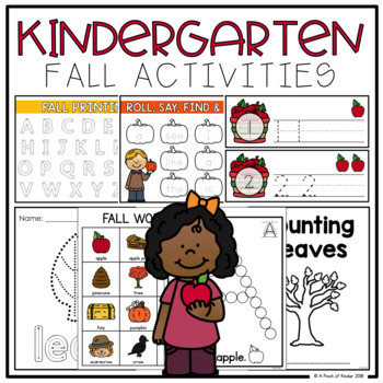 Kindergarten Fall Activities (Literacy + Math)
