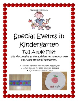 Kindergarten Fall Apple Fest