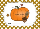 Kindergarten Fall Common Core Writing Prompt Set with Standards