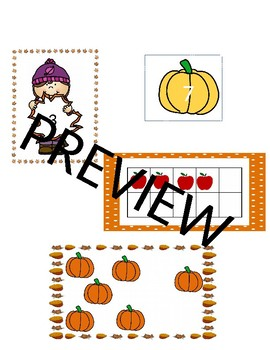 Kindergarten Fall Math Activities and Games