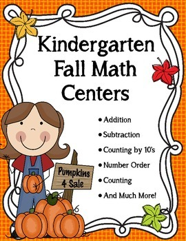 Kindergarten Fall Math Center