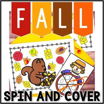 Kindergarten Fall Math Center - 2D Shape Spin and Find