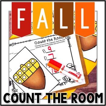 Kindergarten Fall Math Center - Count the Room