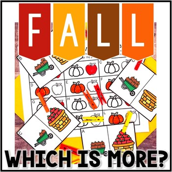 Kindergarten Fall Math Center - Which is More? Comparing Numbers