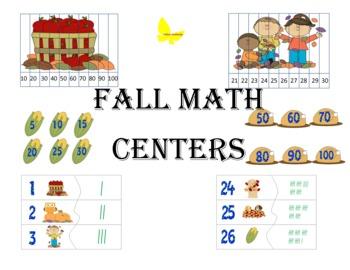 Kindergarten Fall Math Centers 2
