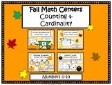 Kindergarten Fall Math Centers- October