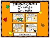 Fall Math Centers- Numbers 0-10- Counting and Cardinality