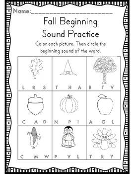 Kindergarten Fall Math & ELA Common Core Activities