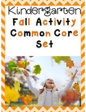 Kindergarten Fall Math & ELA Common Core Activities