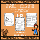 Kindergarten Fall Math Packet