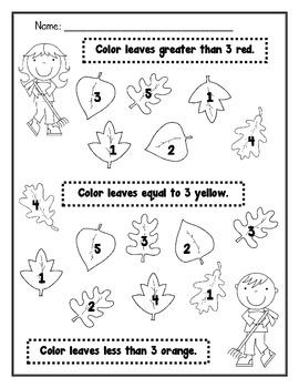 Kindergarten Fall Math Review