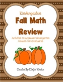 Kindergarten Fall Math Review