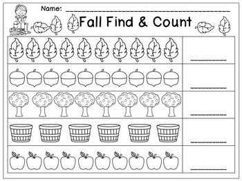 Kindergarten Fall Math Stations - Common Core Aligned