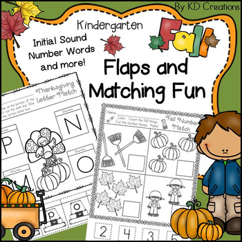 Kindergarten Fall Math and Literacy * Counting * Initial Sounds * Letter Match