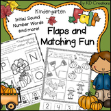 Kindergarten Fall and Halloween and Thanksgiving Literacy and Math Activities