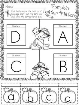 Kindergarten Fall Math and Literacy Freebie
