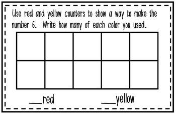 Interactive Kindergarten Math Journal: Numbers 6-10