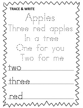 Kindergarten Fall Poetry Journal